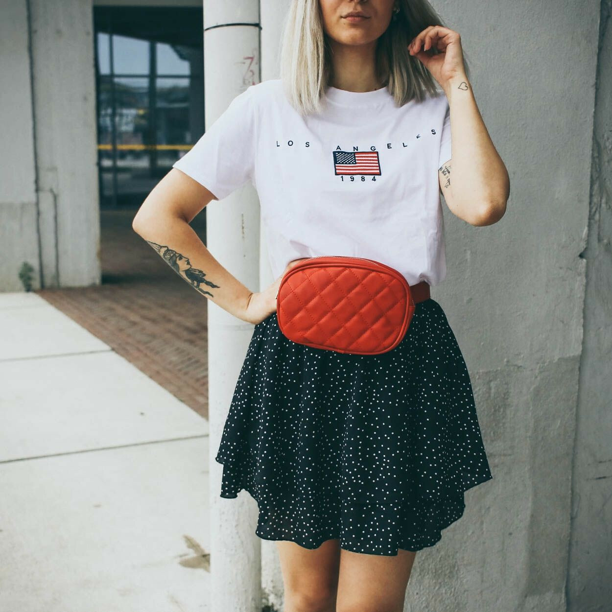 FLOUNCY DOTS SKIRT