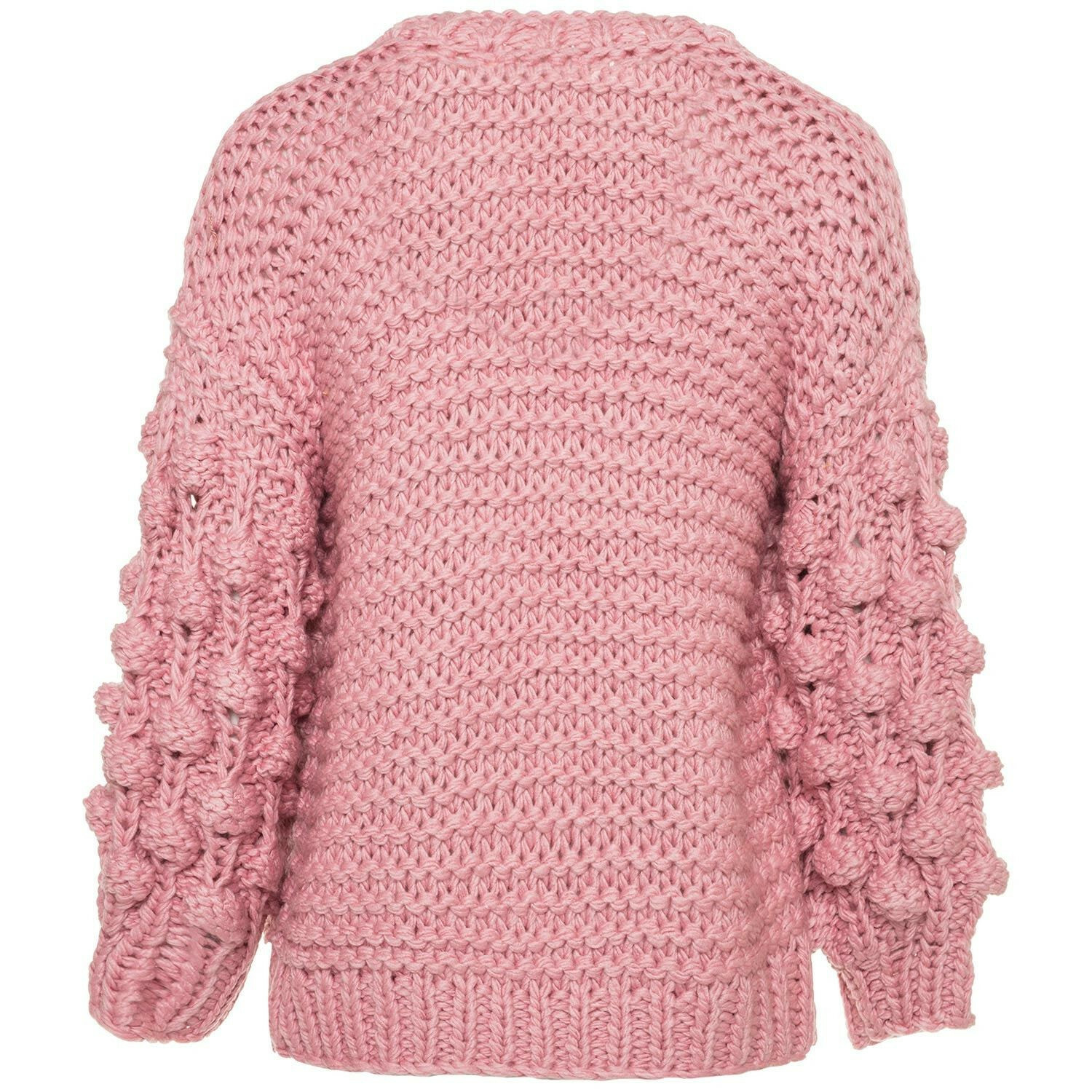 COZY KNITTED PINK CARDIGAN