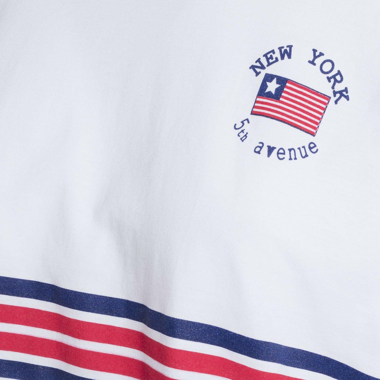 WHITE USA VARSITY TEE