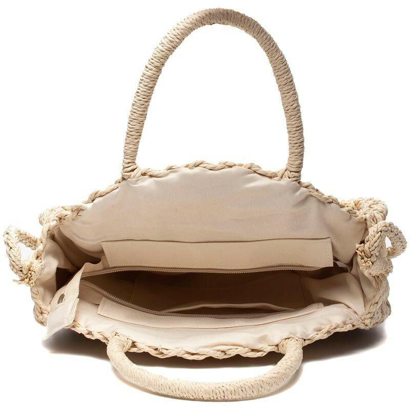 TRENDY ROUND STRAW BAG