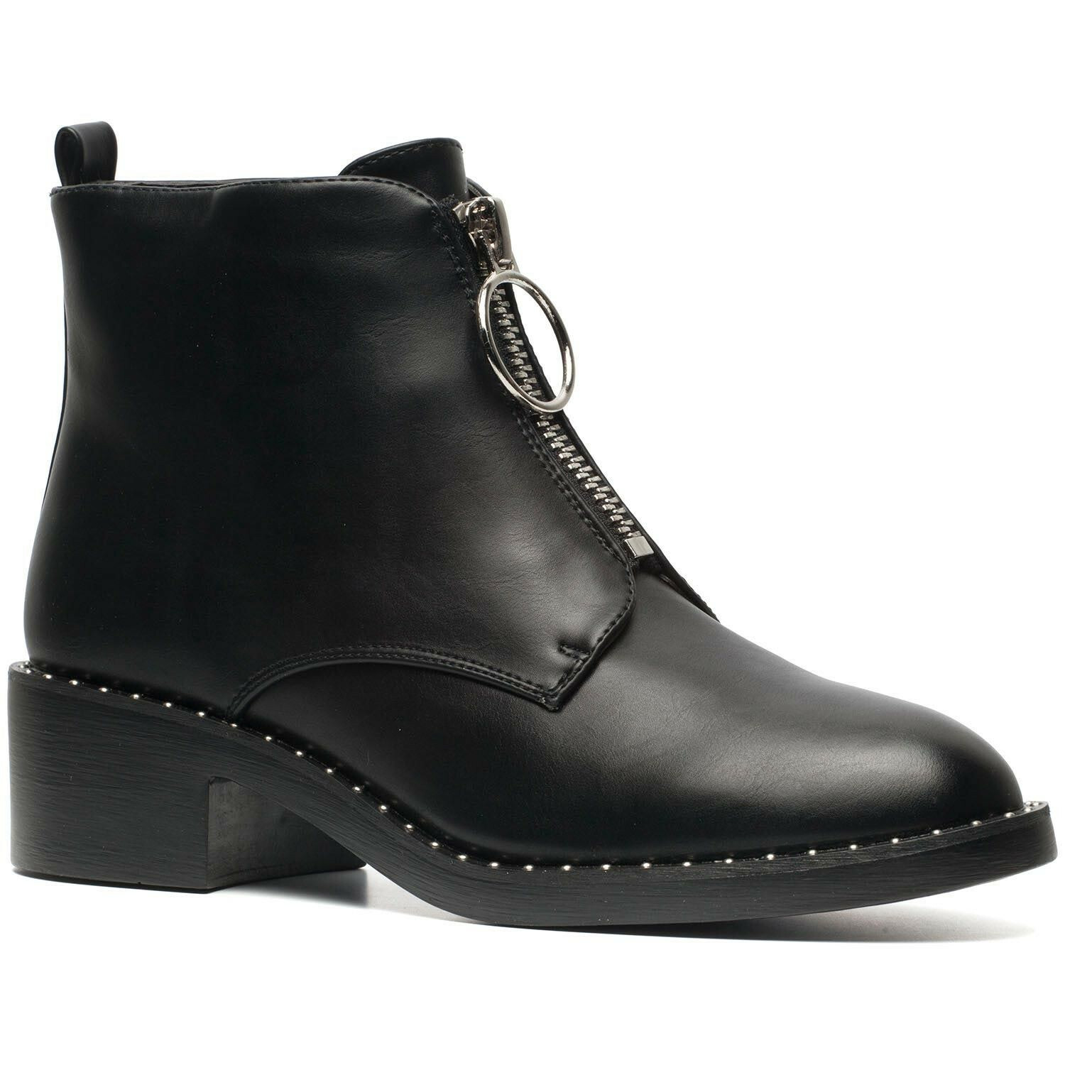 ZIPPED 'N STUDDED BOOTS