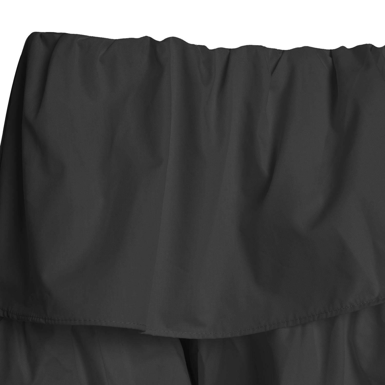 BLACK FAIRY FLARED TOP