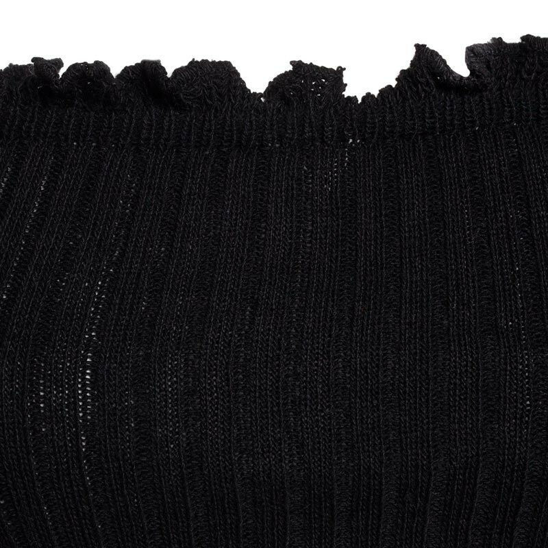 BLACK STRETCHY BARDOT KNIT