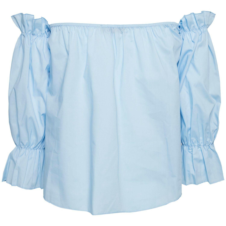 FLOWY BLUE BARDOT TOP