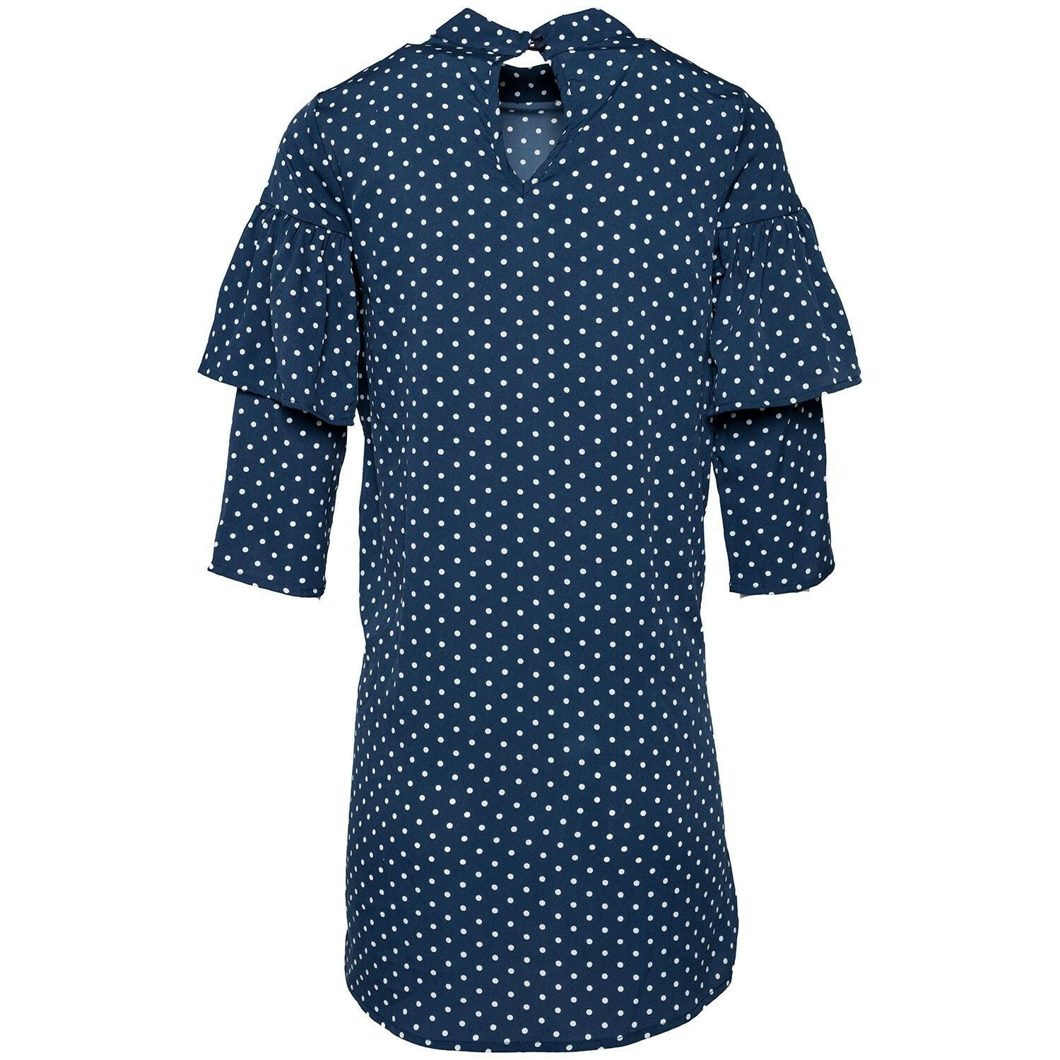 POLKADOT RUFFLE DRESS