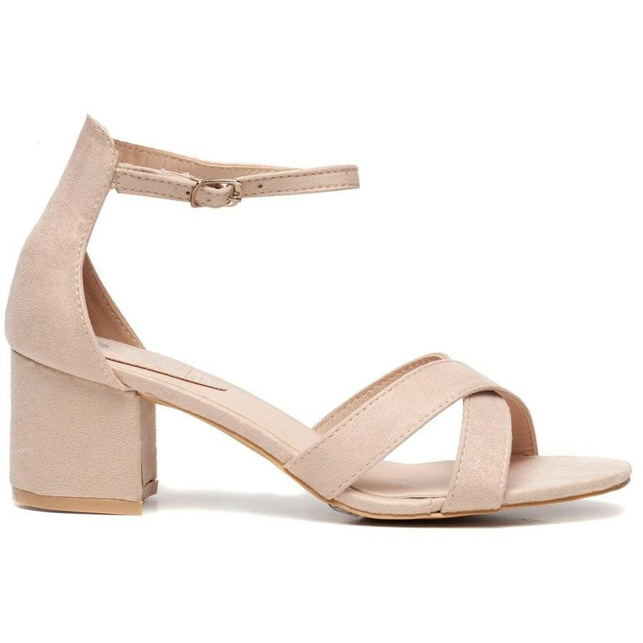 Verbazingwekkend Sandaaltjes met hak nude - Schoenen - ComeGetFashion TQ-34