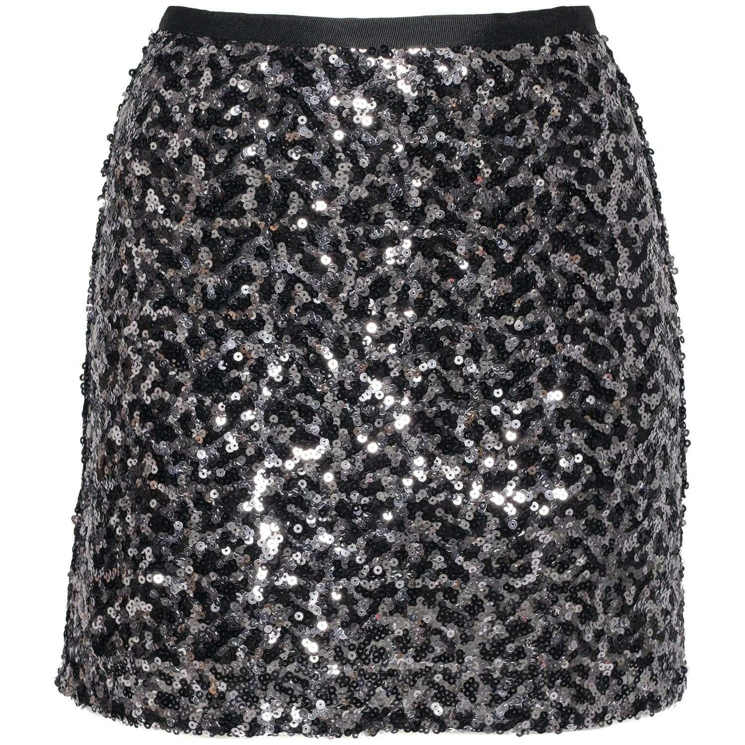 SILVER SEQUINED SKIRT