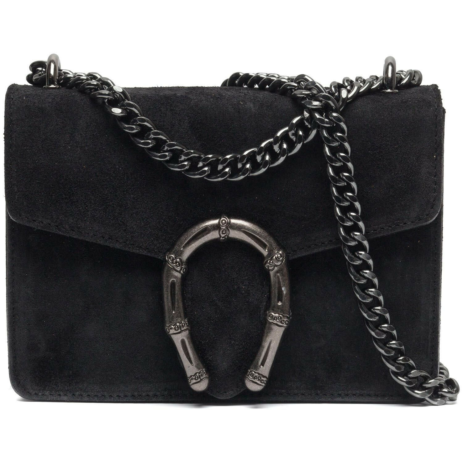 SMALL BLACK STATEMENT BAG
