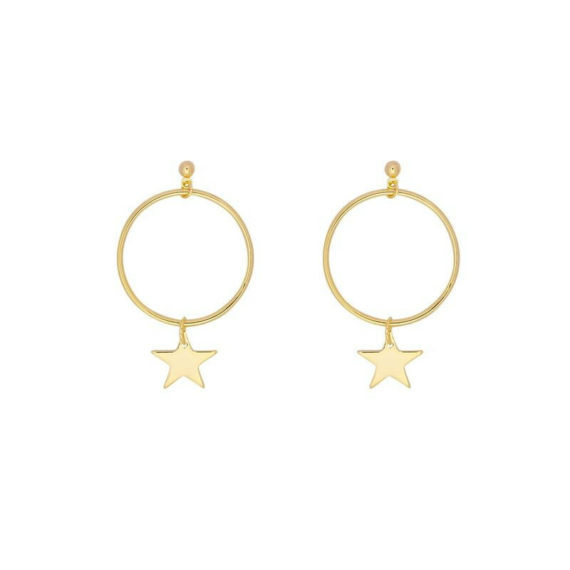 GOLD STARRY HOOPS
