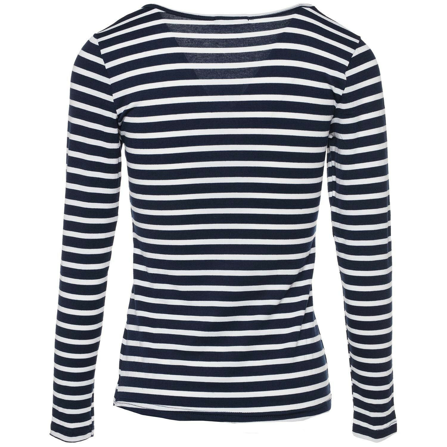 NAVY AND WHITE LONGSLEEVE