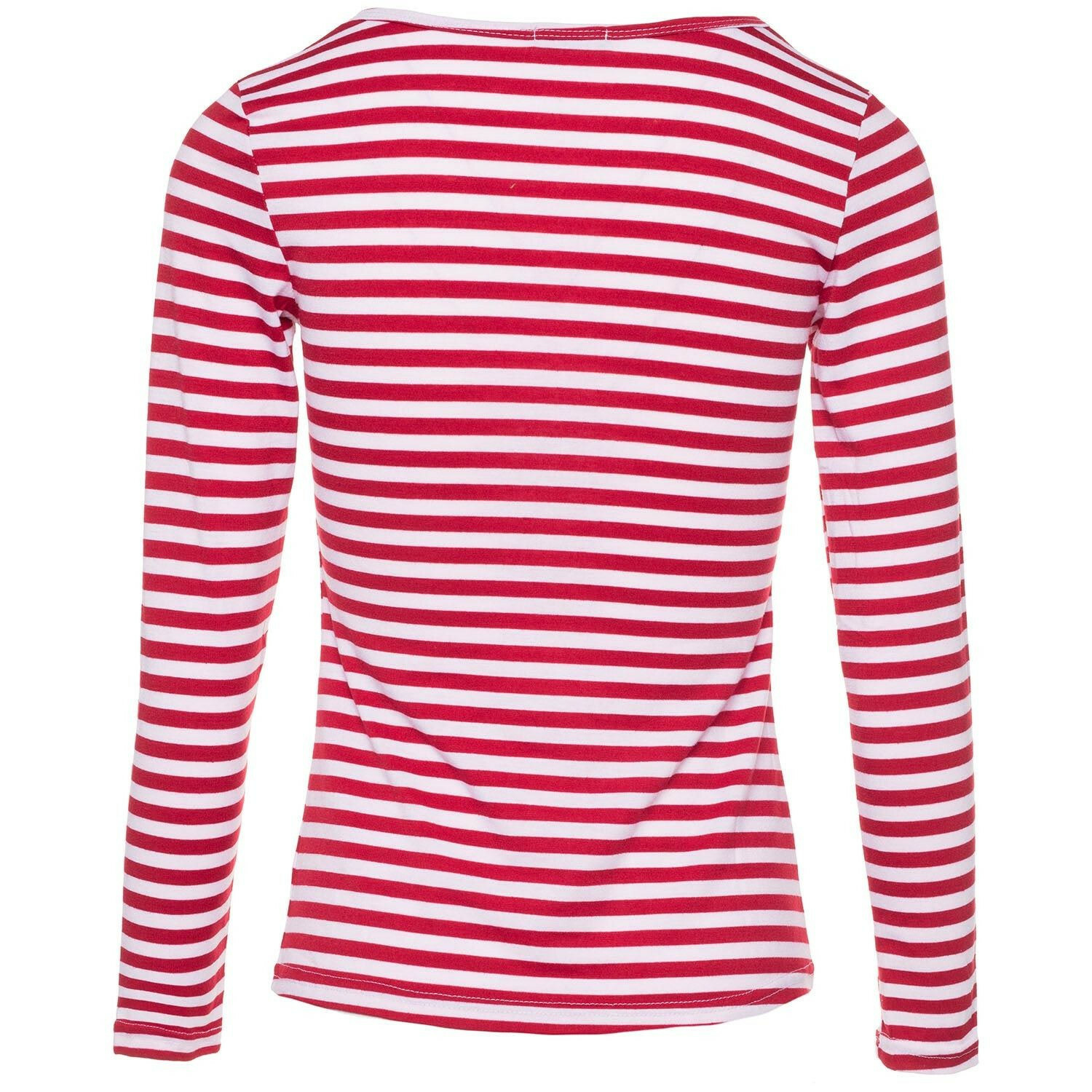 RED AND WHITE LONGSLEEVE
