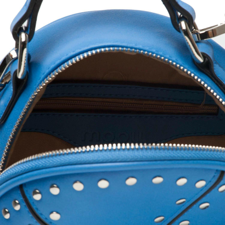 BLUE CIRCLE STUDDED BAG