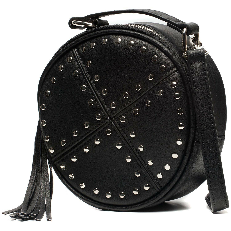 BLACK CIRCLE STUDDED BAG