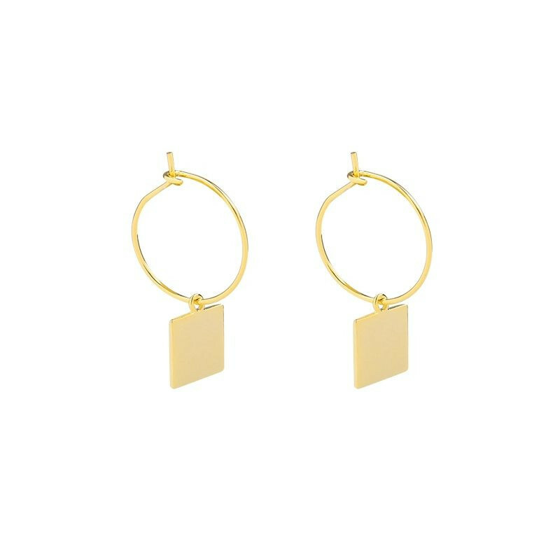 TAG EARRINGS GOLD