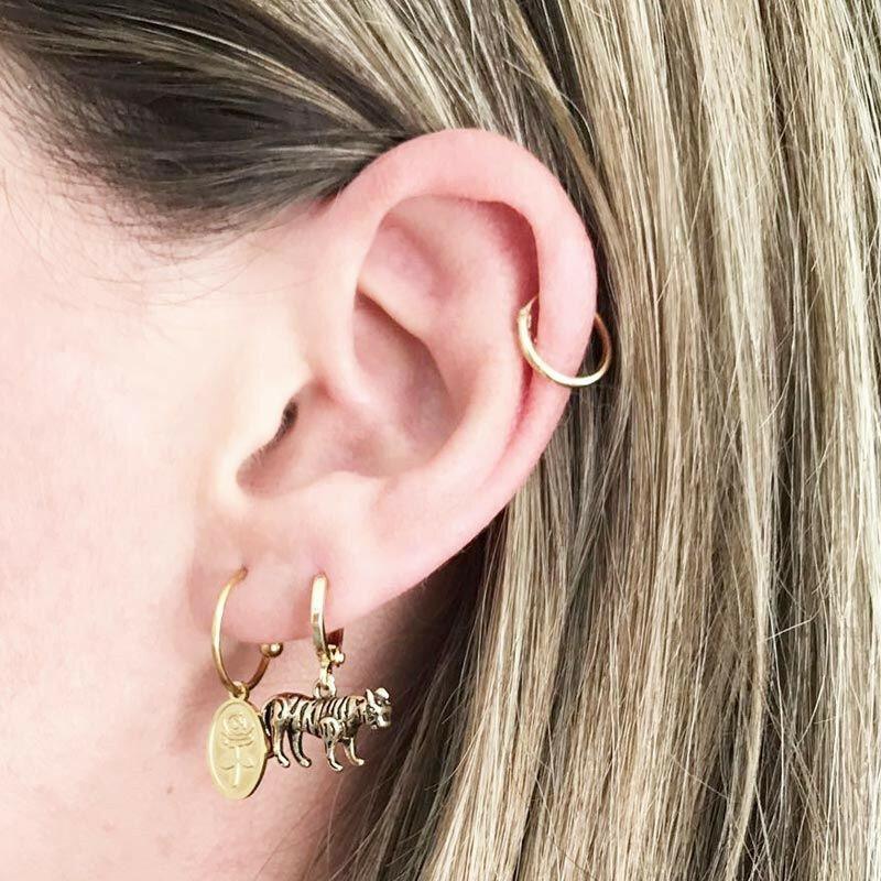 SILVER ROSE PETAL EARRINGS
