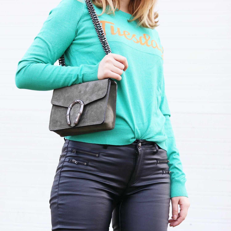 SMALL GREEN STATEMENT BAG