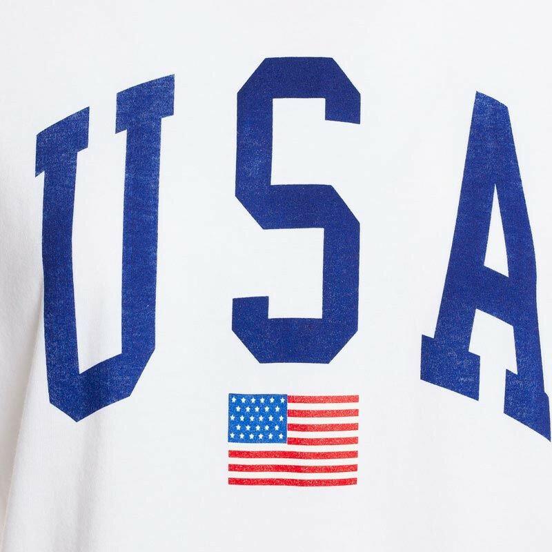 WHITE USA TEE