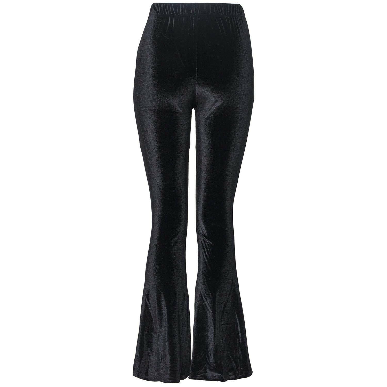 BLACK VELVET FLAIR PANTS