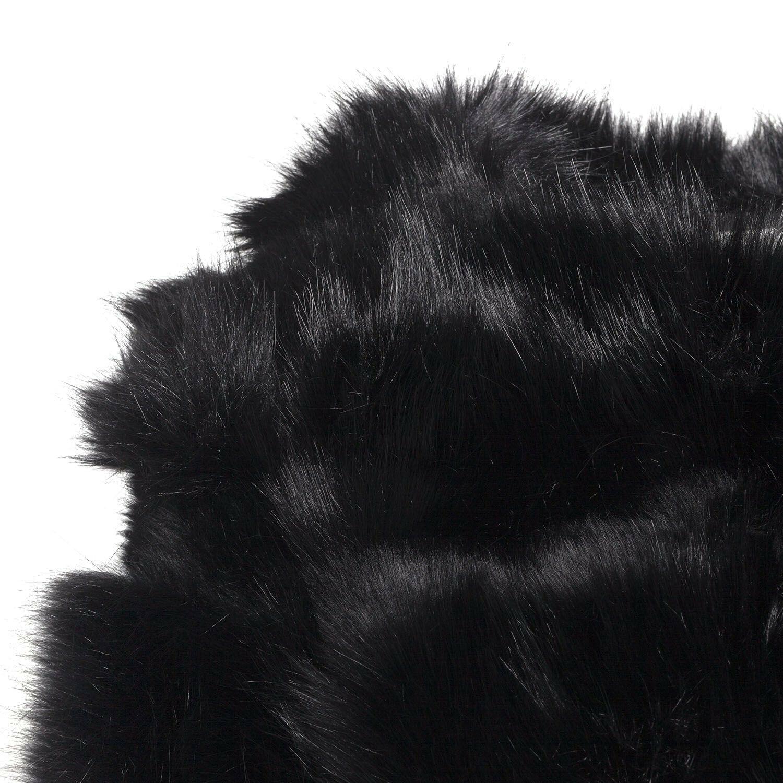 BLACK GLAMOROUS FAUX FUR