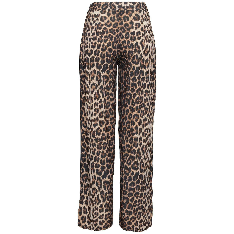FLARED LEOPARD PANTS