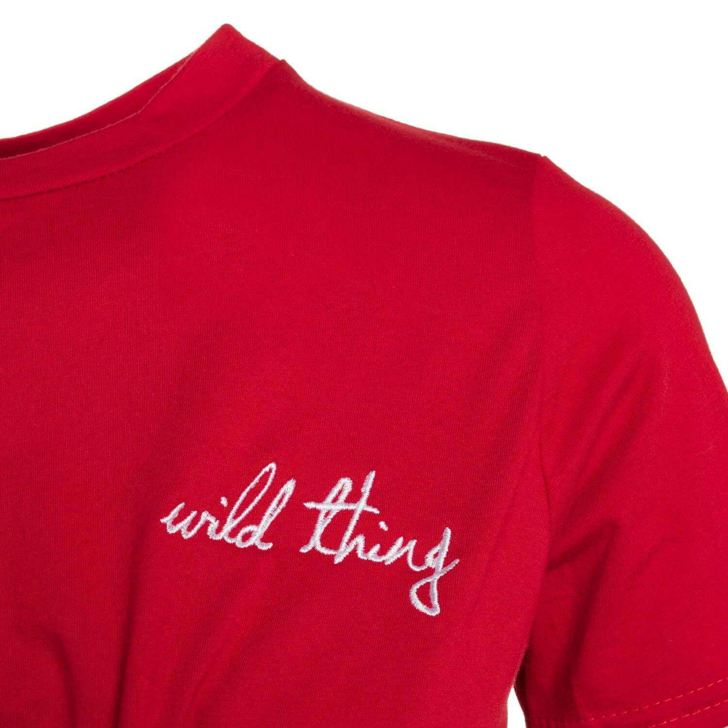 RED WILD THING CROP TEE