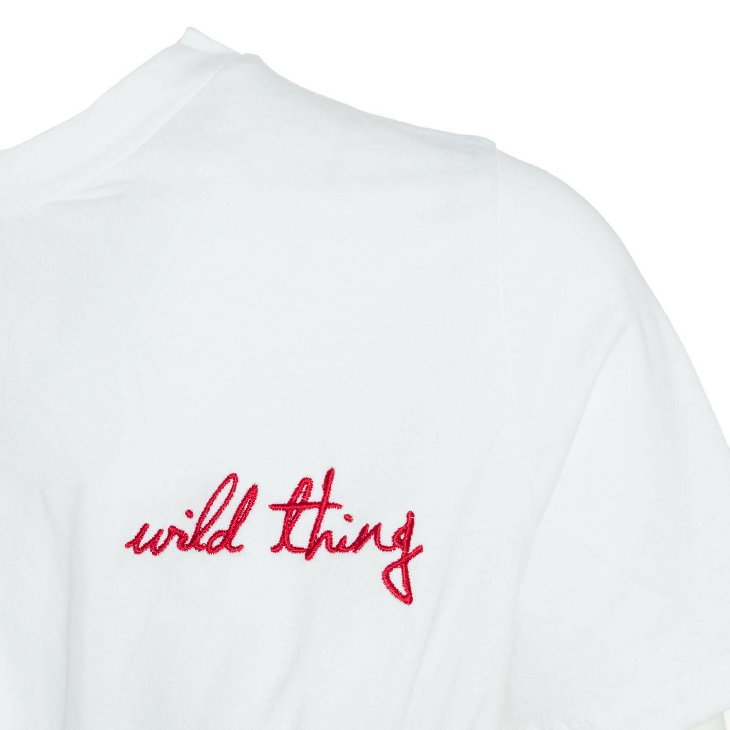 WHITE WILD THING CROP TEE