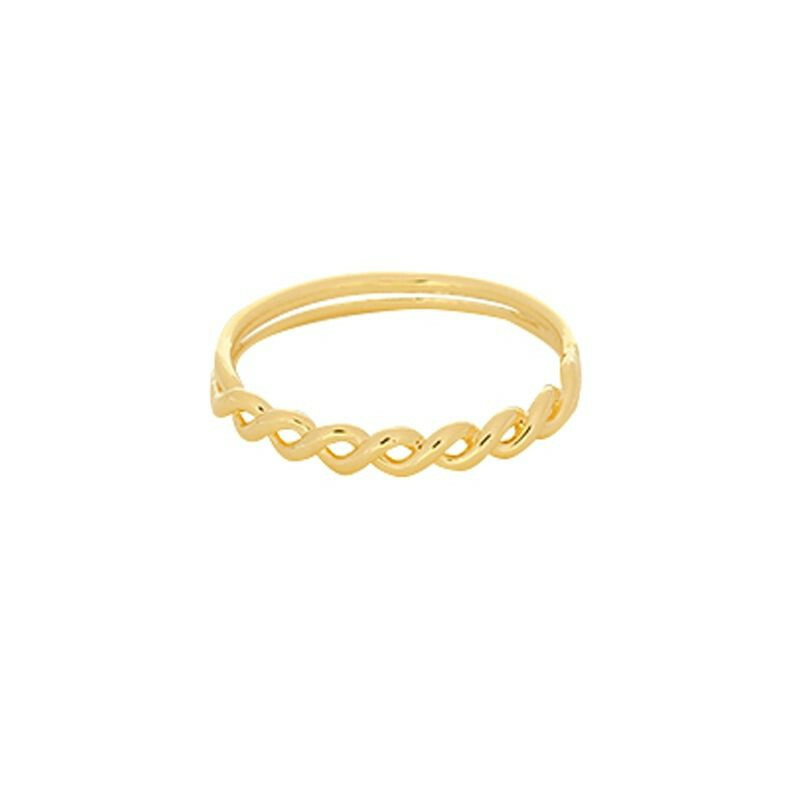 GOLD WAVY RING