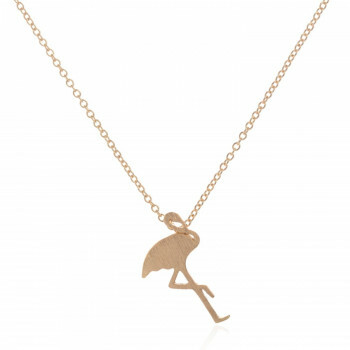 GOLD PLATED FLAMINGO NECKLACE