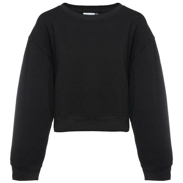 CROPPED SWEATER ZWART