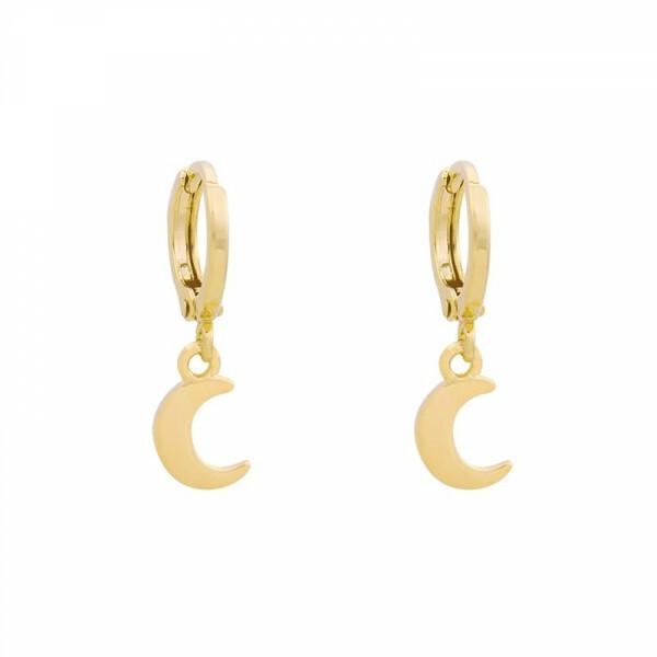MOON EARRINGS GOLD