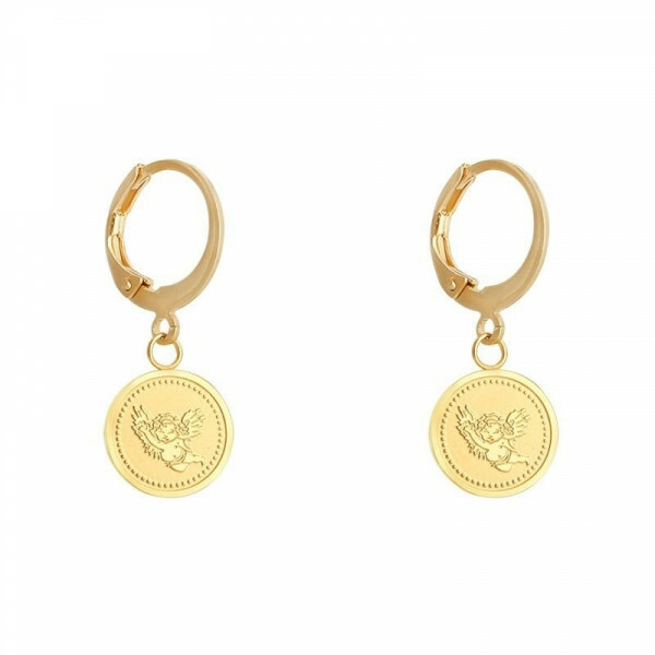 ANGEL COIN EARRING GOLD