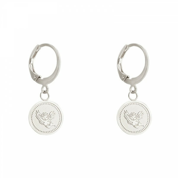 ANGEL COIN EARRING SILVER