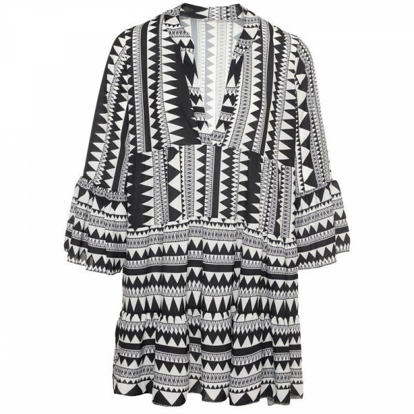 BLACK AZTEC BEACH DRESS