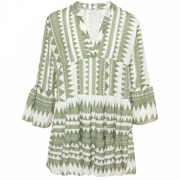 GREEN AZTEC BEACH DRESS