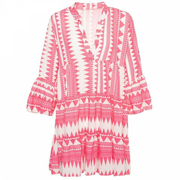 PINK AZTEC BEACH DRESS