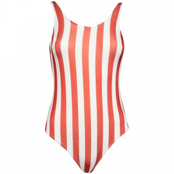 RED AND WHITE SWIMSUIT