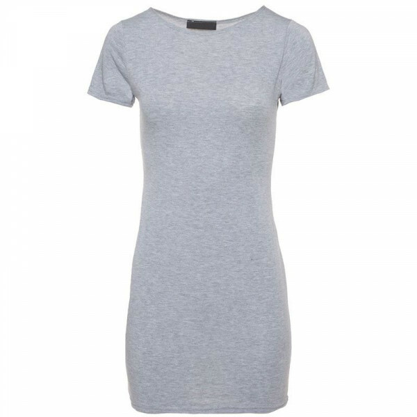 GREY TEMPTING TEE DRESS