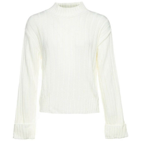 BASIC TURTLE SWEATER WHITE