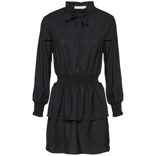 BLACK LAYERED SWING DRESS