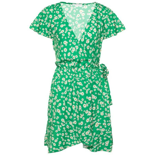 FLORAL DAISY DRESS GREEN