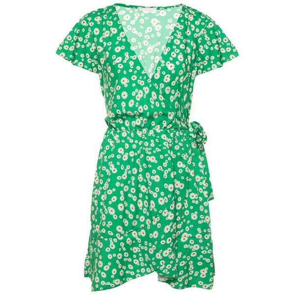 FLORAL DAISY DRESS GREEN