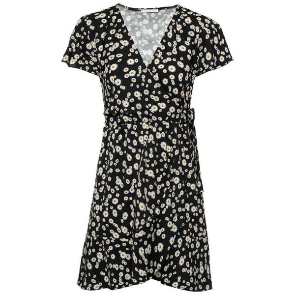 FLORAL DAISY DRESS BLACK