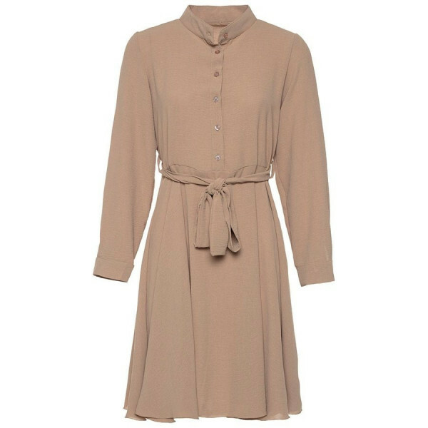 FLOWY SHIRTDRESS BEIGE