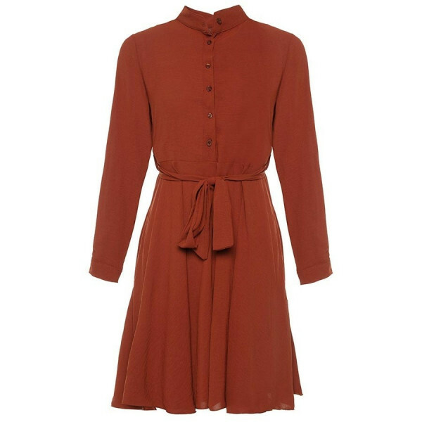 FLOWY SHIRTDRESS CAMEL