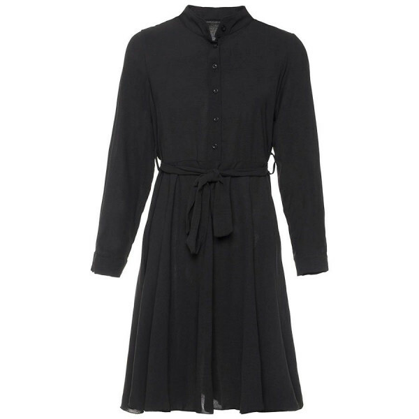 FLOWY SHIRTDRESS BLACK