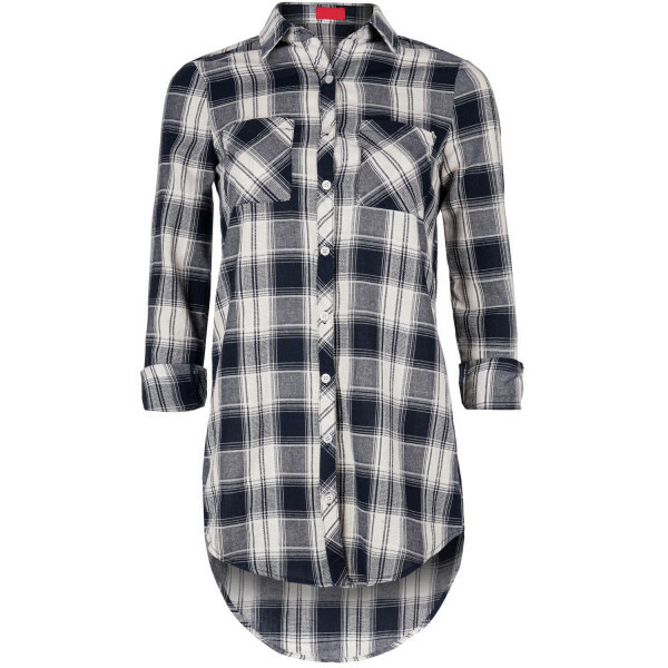 BLUE CHECKED BLOUSE