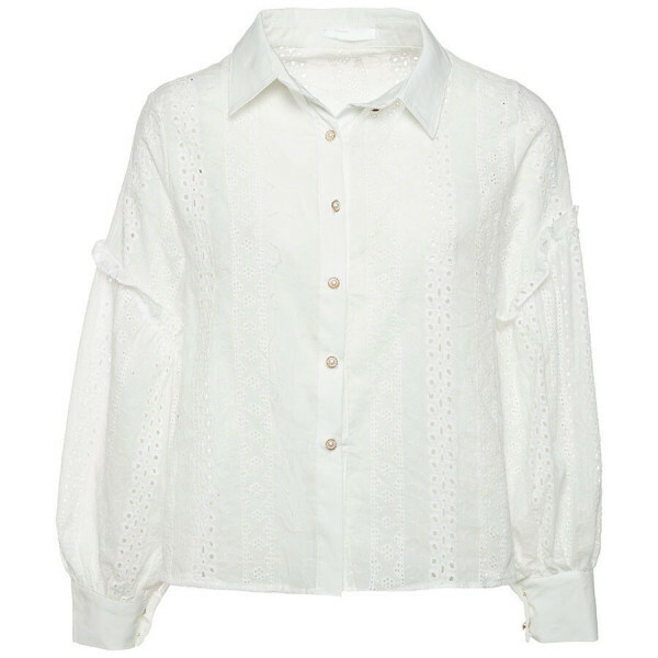 PEARLY BRODERIE BLOUSE WHITE