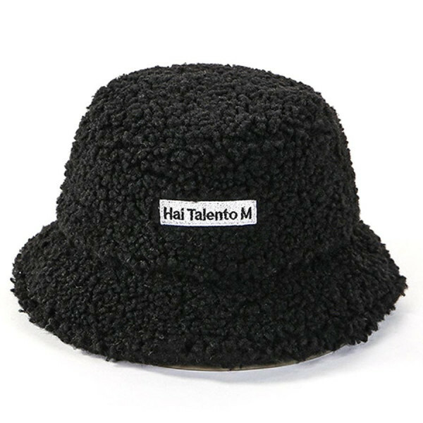 BUCKET HAT TEDDY BLACK