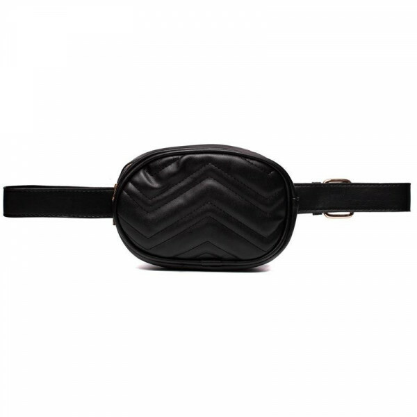 BLACK SHAPE UP BUM BAG