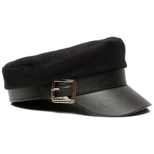 BAKER BOY CAP BLACK